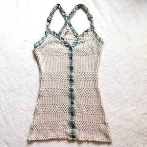 Free people cream knitted tank/ small